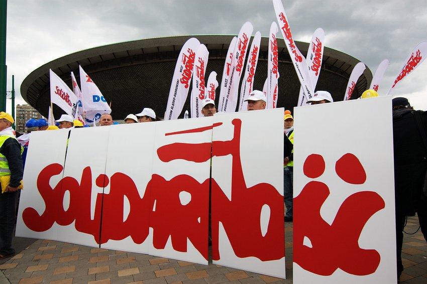 """Manifestacja """"Solidarności"""" w Katowicach"""